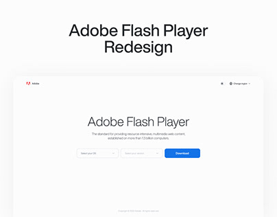 Adobe Flash Player — Redesign