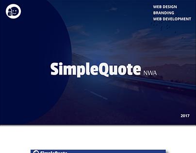 SimpleQuote NWA Web Design