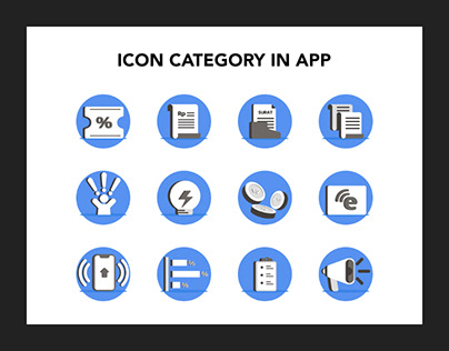 ICON CATEGORY IN APP