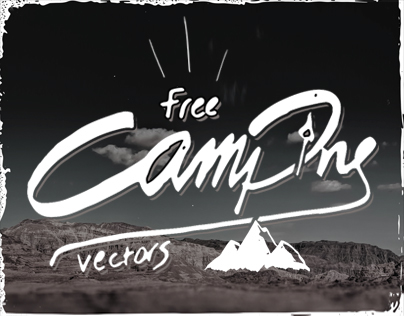 Free hand-drawn Camping Vectors
