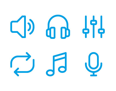 Audio Player Icons