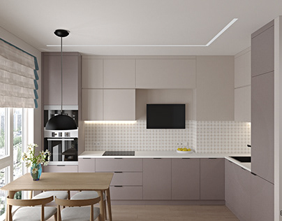 Кухня 15м2. Kitchen 15sq.m