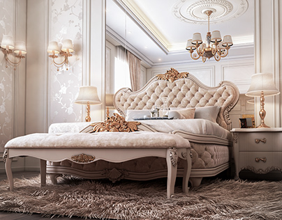 Samik Ivory bedroom