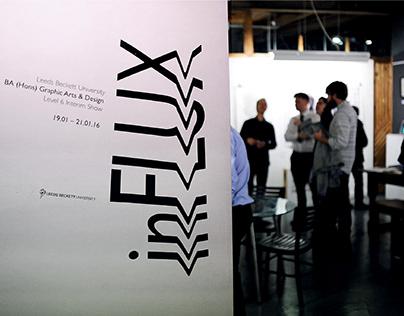 inFLUX Exhibition Branding