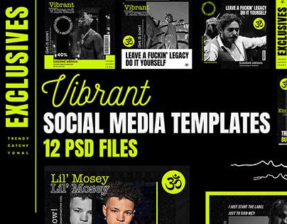 Vibrant Social Media Templates (Free PSD)