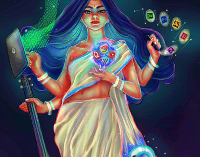 goddess of knowledge × technology