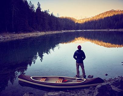 Canoeing Eibsee