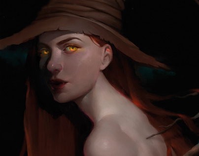 """""""Witch"""" for the Magic CG magazine"""
