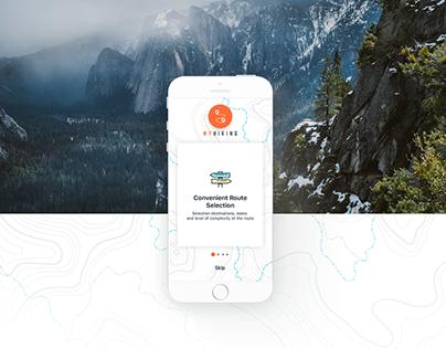 "Design App ""My Hiking"""