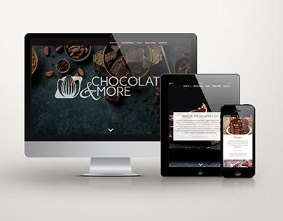 Chocolate&More- logotype, webdesign