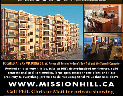 Mission Hill News Paper Ad redesign