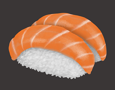 Nigiri Sushi Illustration for a Tote-bag — にぎりすし