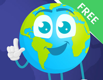 Earth Cartoon Vector Set