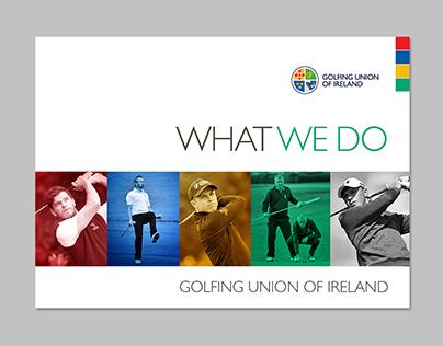The Golfing Union of Ireland Brand Work