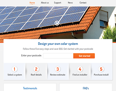 UI for a solar company