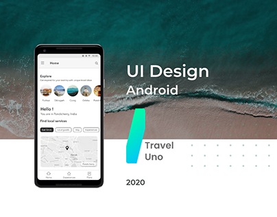 Travel UNO - UI Design - Android