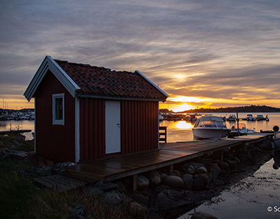 sunrise in south of Norway
