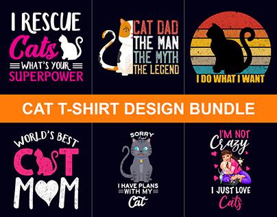 100+ Best Funny Cat T-Shirts Design Bundle