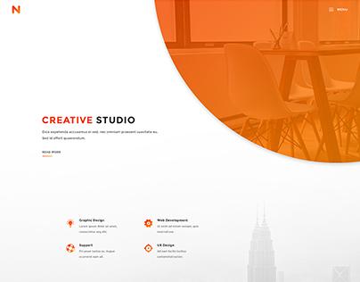 Nango - Portfolio, Resume & Agency PSD Template
