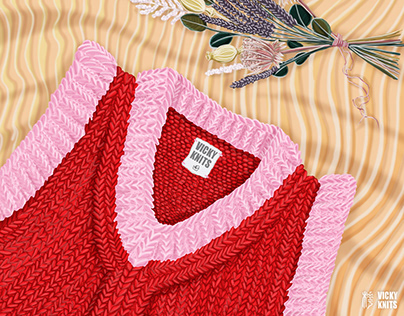 Knitwear illustration for Vicky Knits