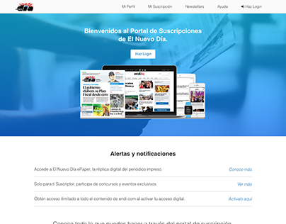 END Landing Pages