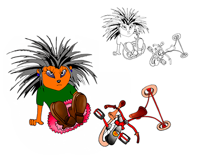 Hedgehog Cartoon Characters