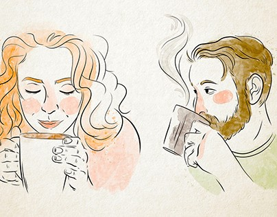 Kaffee Genuss Illustration
