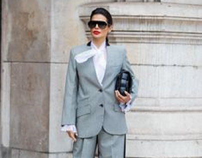 Victoria Barbara Montalvo Givenchy Suit