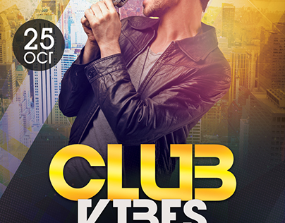 Club Vibes - Free PSD Flyer Template