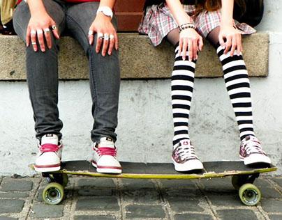 Circense no Skate. Editorial de Moda