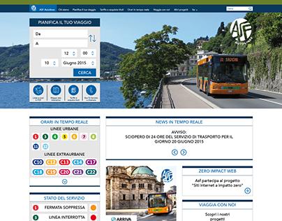 ASF. Studio e progettazione del nuovo web site