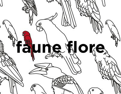 FAUNE FLORE / PatternPattern / Illustration
