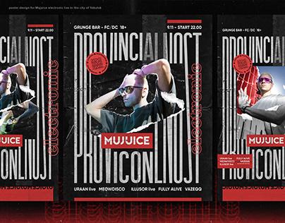 Mujuice poster design