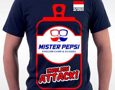 T-shirt design for Mister Pepsi Kediri Indonesia