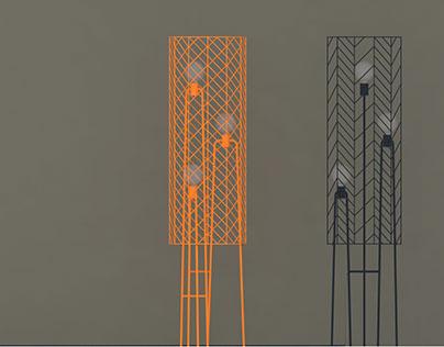 Romea, floor lamp, concept.
