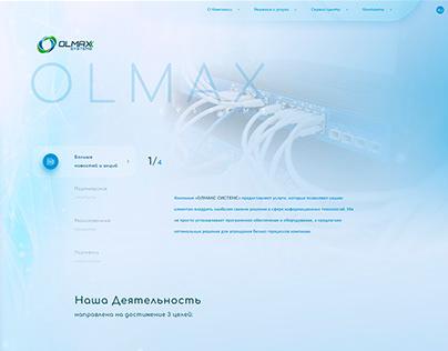Olmax Network Website design