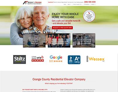 So Cal Home Elevators - Website Design