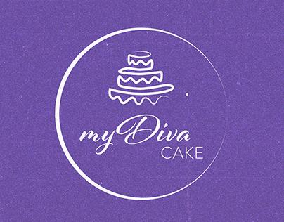 myDiva CAKE Logo Design & Branding