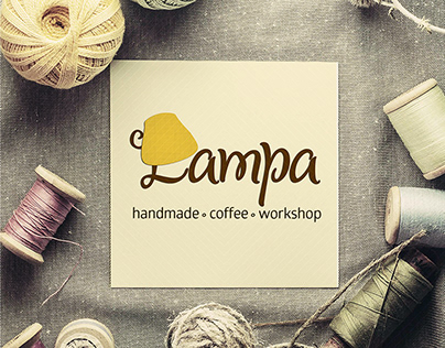 Logo and identity of handmade cafe Lampa