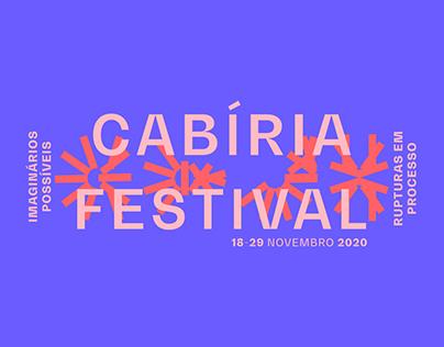 Cabíria Festival 2020 | Materiais gráficos