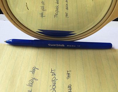 An enjoyable day || Mirror writing