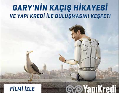 """""""Yapı Kredi Gary Kaçış Hikayesi"""" Html5 Banner"""