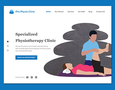 Physiotherapy Clinic website Banner Design