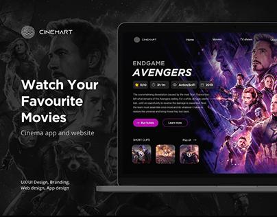 CINEMART - Web and App UI/UX Design for a modern cinema