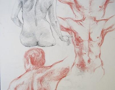 Figure Drawings/Self Portraits