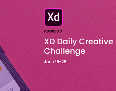 Adobe XD Daily Challenge, June'19