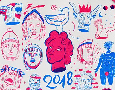 Facce Pazze Calendar 2018