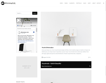 Blog - Left Sidebar - Minimalist WordPress Theme