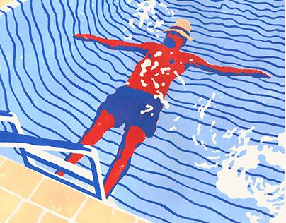 Sep zwemt