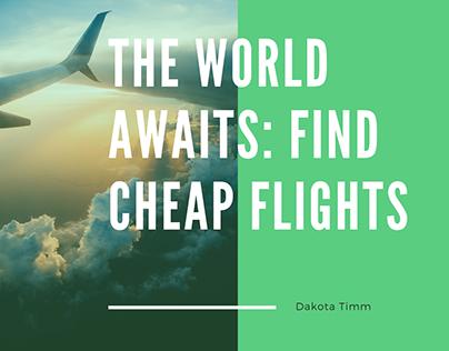 The World Awaits: Find Cheap Flights - Dakota Timm